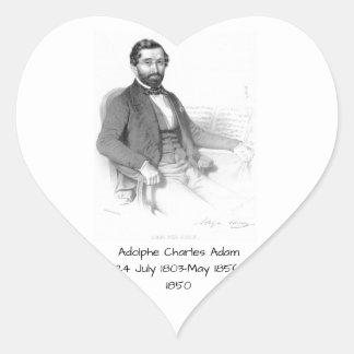Sticker Cœur Adolphe Charles Adam, 1850