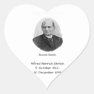 Sticker Cœur Alfred Heinrich Ehrlich