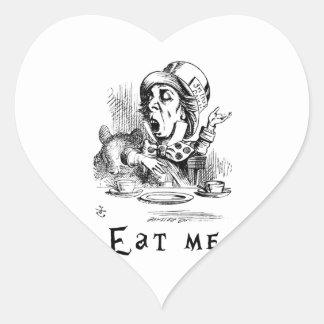 Sticker Cœur Alice au pays des merveilles - mangez-moi