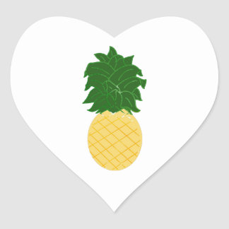 Sticker Cœur Ananas