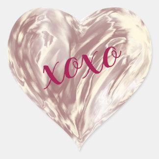 Sticker Cœur Aquarelle rose de Xoxo de coeur d'amour d'or