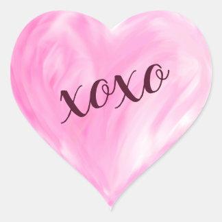 Sticker Cœur Aquarelle rose de Xoxo de coeur d'amour peinte