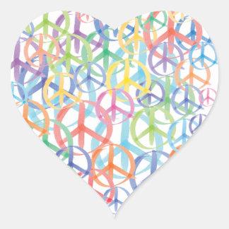 Sticker Cœur Art de symboles de paix