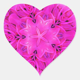 Sticker Cœur Art floral de roses indien de conception de