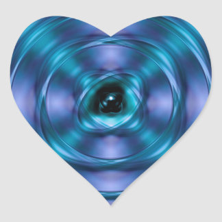 Sticker Cœur Atome de rotation bleu