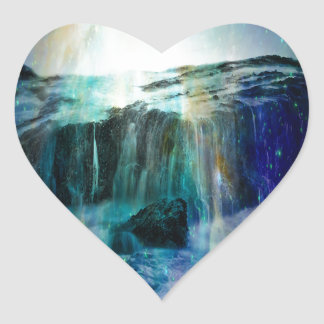 Sticker Cœur Automnes cosmiques