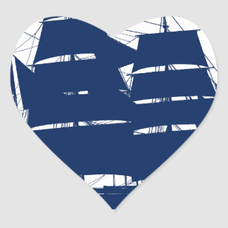 Sticker Cœur baleinier élégant Charles Morgan de fernandes