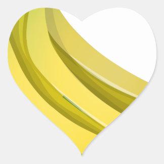 Sticker Cœur Bananes