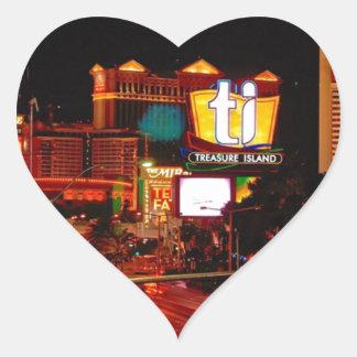 Sticker Cœur Bande de Las Vegas
