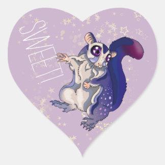 Sticker Cœur Bébé doux de planeur de sucre