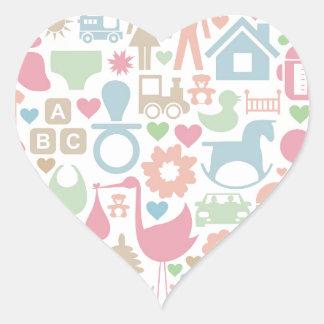 Sticker Cœur Bébé une sphère
