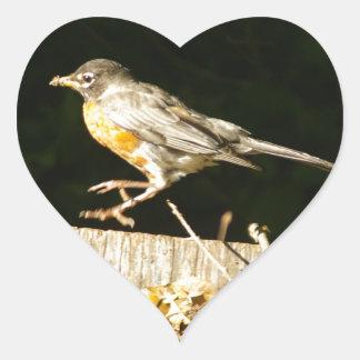 Sticker Cœur Bobine rouge de Robin