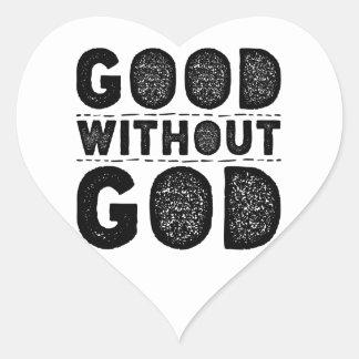 Sticker Cœur Bon sans Dieu