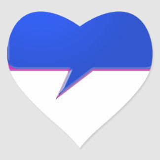 Sticker Cœur Bulle BLEUE d'entretien de KOOLshades - pricin en