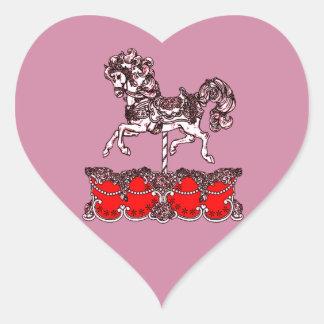 Sticker Cœur Carrousel