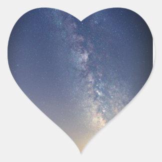 Sticker Cœur Céleste