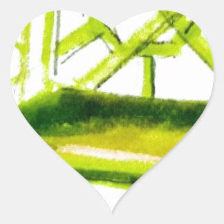 Sticker Cœur chaise de chinoiserie pour la carte d'endroit