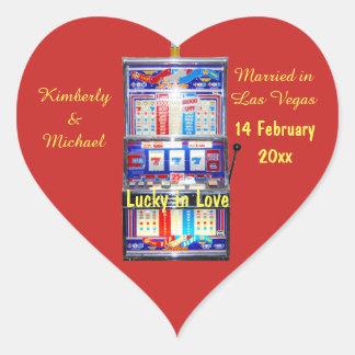 Sticker Cœur Chanceux dans la machine à sous d'amour