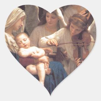Sticker Cœur Chanson des anges - William-Adolphe Bouguereau