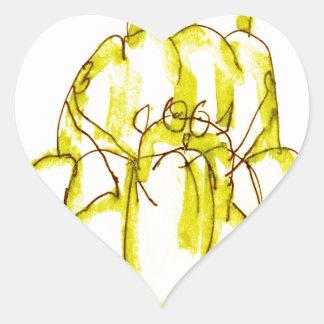 Sticker Cœur chat élégant de jello de la banane des fernandes