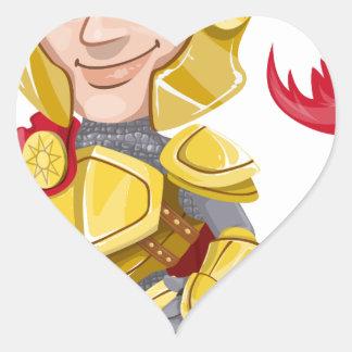 Sticker Cœur chevalier