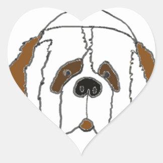 Sticker Cœur Chiot Francis pour de petits articles