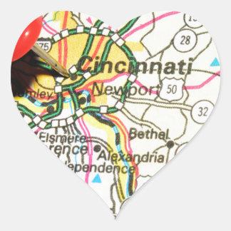 Sticker Cœur Cincinnati
