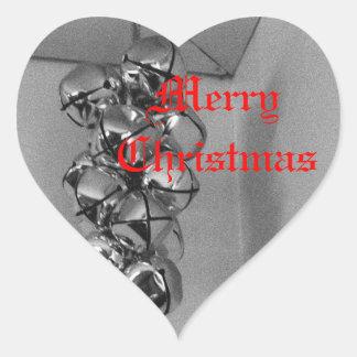 Sticker Cœur Cloches de Noël