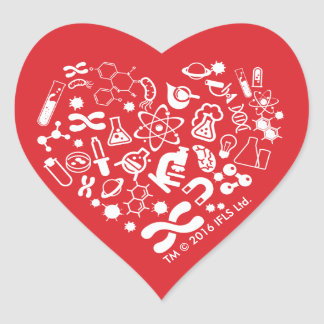 Sticker Cœur Coeur de l'espace et de la Science