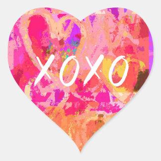 Sticker Cœur Coeur de XOXO Valentine