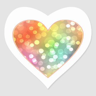 Sticker Cœur Coeur scintillant