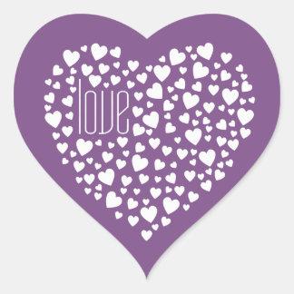Sticker Cœur Coeurs complètement de blanc d'amour de coeurs