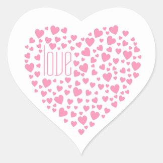 Sticker Cœur Coeurs complètement de rose d'amour de coeurs