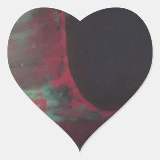 Sticker Cœur Complètement de couleur dans un monde lumineux