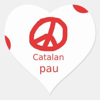 Sticker Cœur Conception catalanne de langue de symbole de paix