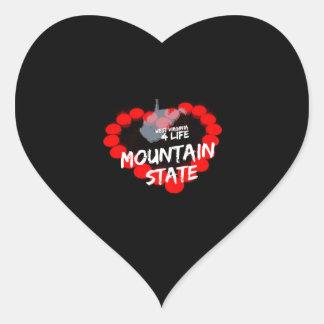 Sticker Cœur Conception de coeur de bougie pour l'état de la