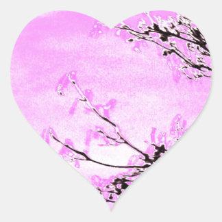 Sticker Cœur Conception rose de forêt de Jane Howarth