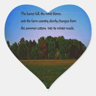 Sticker Cœur Couleurs de chute, automne