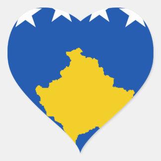 Sticker Cœur Coût bas ! Drapeau de Kosovo