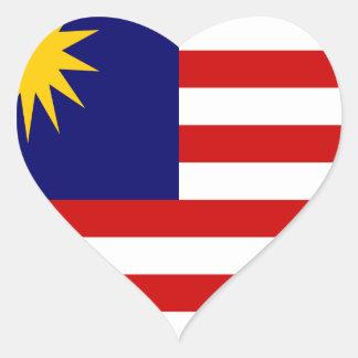 Sticker Cœur Coût bas ! Drapeau de la Malaisie