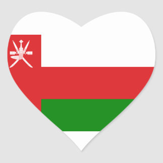 Sticker Cœur Coût bas ! Drapeau de l'Oman