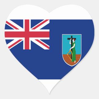 Sticker Cœur Coût bas ! Drapeau de Montserrat