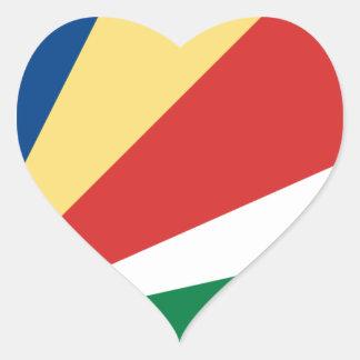 Sticker Cœur Coût bas ! Drapeau des Seychelles