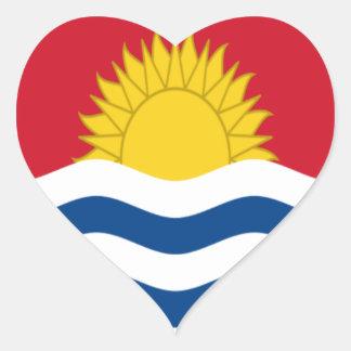 Sticker Cœur Coût bas ! Drapeau du Kiribati