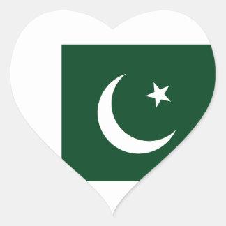 Sticker Cœur Coût bas ! Drapeau du Pakistan
