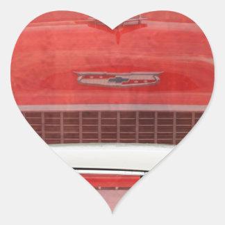 Sticker Cœur Cru blanc rouge de Dodge de voitures de Bel Air