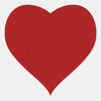 Sticker Cœur Cuir piqué par rouge rouge