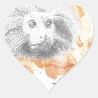 Sticker Cœur Démon d'or de singe - ses matériaux foncés
