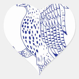 Sticker Cœur dessin de marche Pointu-shinned de faucon