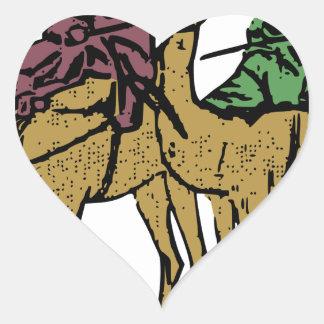 Sticker Cœur Deux types de chameau